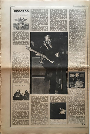 jimi hendrix newspapers 1970 / rolling stone  may 28, 1970 review : band of gypsys lp