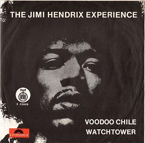 jimi hendrix collector vinyls singles/voodoo chile / watchtower yougoslavia 1970