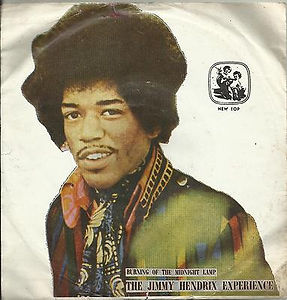 jimi hendrix /EP vinyls 45r/EP burning of the midnight lamp/iran  1973