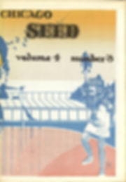jimi hendrix newspaper  1969/chicago seed july 1969 volume 4 number 3