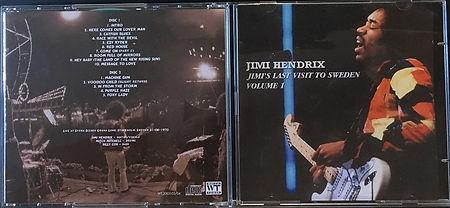jimi hendrix bootlegs cd / jimi's last visit to sweden vol.1 2cd