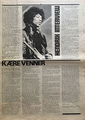 jimi hendrix 1968 newspaper/super love october 1968