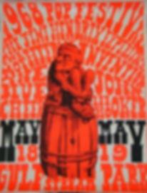 memorabilia 1968/ poster miami  may 1968 pop festival