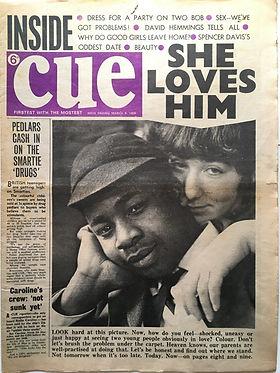 jimi hendrix collector newspaper/cue march 9 1968