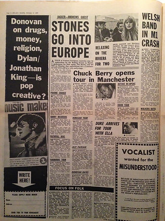 jimi hendrix newspaper 1967/melody maker february 4 1967