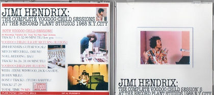 jimi hendrix the complete voodoo child sessions at the record plant studios 1968 ny city/cd bootlegs album
