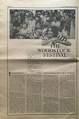 jimi hendrix newspaper 1969/rolling stone september 20 1969/ part2 woodstock festival