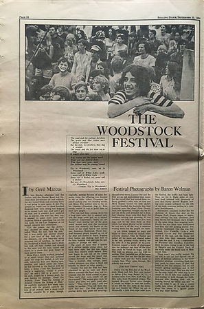 jimi hendrix newspaper 1969/rolling stone september 20 1969/ part2 woodstock festival