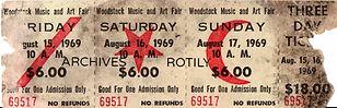 jimi hendrix memorabilia 1969/ticket woodstock