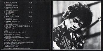 jimi hendrix cd album/band of gypsys