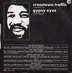 jimi hendrix singles vinyls/ vol4 crosstown traffic/gypsys eyes barclay 1972