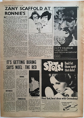 jimi hendrix newspaper 1969/ record mirror january 18 1969
