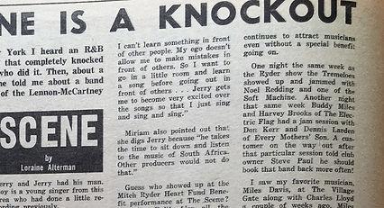 JIMI HENDRIX newspaper/go march 8 1968