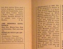 jimi hendrix magazine 1967/rock & folk  march 67/ hey joe review