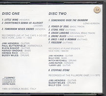 jimi hendrix bootlegs cd/shine on earth shine on  1989