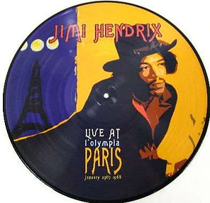 jimi hendrix vinyls albums picture disc/live at l'olympia paris january 29 1968