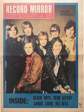 jimi hendrix newspaper/record mirror  7/9/68