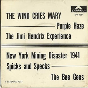 jimi hendrix/EP vinyls 45r/the wind cries mary/purple haze polydor south africa 1968