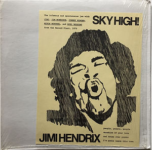 jimi hendrix bootlegs vinyl/sky high duck records 1985