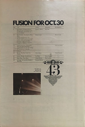 jimi hendrix newspapers 1970 / fusion  october 30,  1970