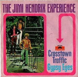 jimi hendrix collector vinyls singles 45t/crosstown traffic gypsy eyes polydor germany 1968