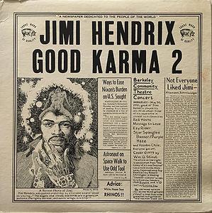 jimi hendrix bootlegs vinyls 1970 / good karma 2  tmoq 1973 delux covert