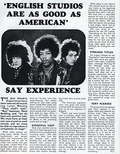 jimi hendrix collector magazine/beat instrumental november 1967 english studios are as good as american'  say experience