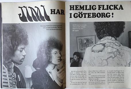 jimi henrix magazine 1968 / jimi hendix sweden 1968