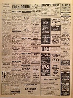 jimi hendrix newspaper 1967 / melody maker feb.18, 1967  top 50