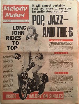 jimi hendrix collector newspaper/melody maker 25/11/1967