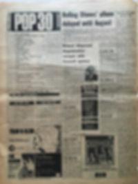 jimi hendrix newspapers/melody maker july 13 1968 LPs top ten :smash hits N°8