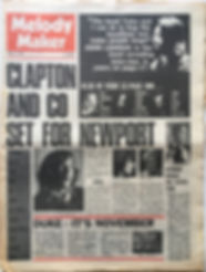 jimi hendrix newspaper 1969/melody maker april 19 1969