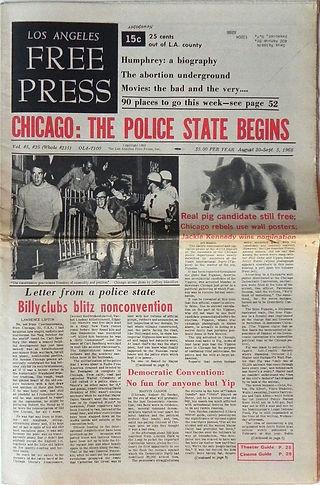 jimi hendrix newspaper/los angeles free press august 30/sept 5 1968