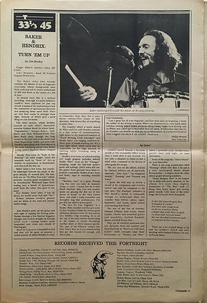 jimi hendrix newspapers 1970 / crawdady  may 25, 1970 review : band of gypsys lp