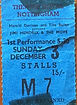 jimi hendrix collector memorabilia ticket/3 december 1967