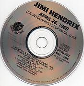 jimi hendrix cd bootlegs 1969 /jimi hendrix april 26 1969 black panter records 1989