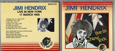 live in new york jimi hendrix cd bootlegs 17 march 1968