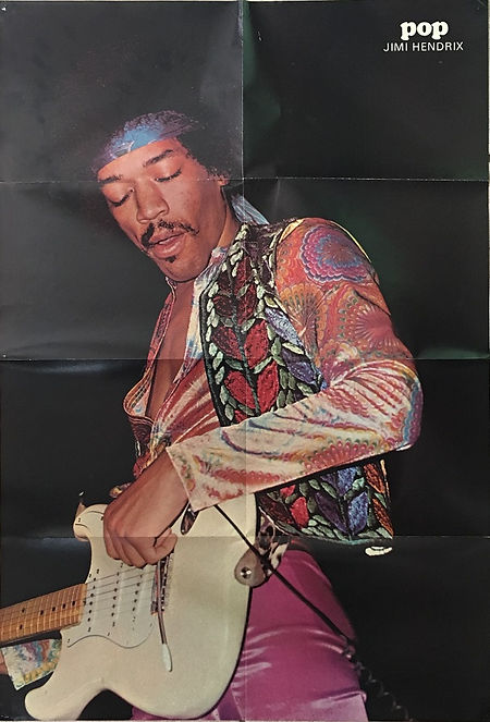 jimi hendrix collector magazines 1970/ pop december 1970 poster