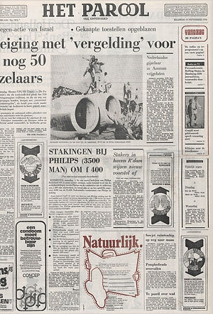 jimi hendrix newspaper 1970 / het parool september 14, 1970