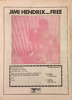 jimi hendrix rotily newspapers collector/rolling stone 10/1970