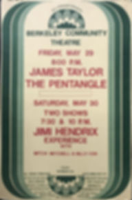 jimi hendrix memorablia 1970 / berkeley poster