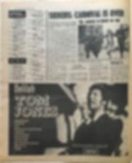 jimi hendrix newspaper/disc music echo july 13 1968 top ten LPs smash hits N°8