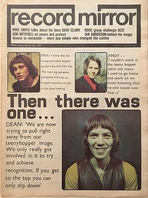 jimi hendrix newspapers 1970 / record mirror jan.10, 1970