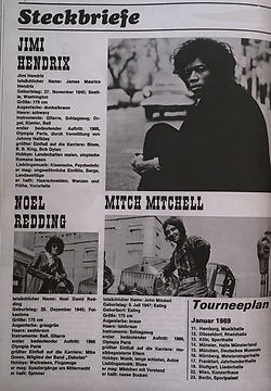 jimi hendrix  magazines 1969/ hit january 1969