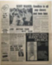 jimi hendrix newspaper 1968/disc & music echo 26/10/68