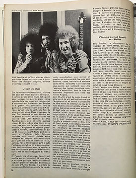 jimi hendrix magazine /rock & folk france june/july 1968:hendrix dans les etoiles