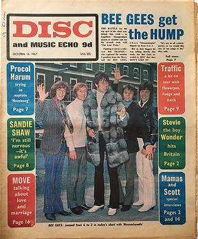 jimi hendrix collector newspaper/disc music echo 14/10/1967