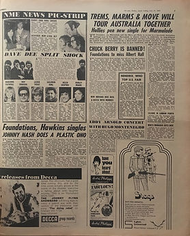 jimi hendrix newspaper 1969/ new musical express july19 1969 festival woodstock