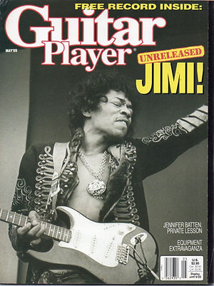 jimi hendrix magazine collector / guitar player may  1989 / red house