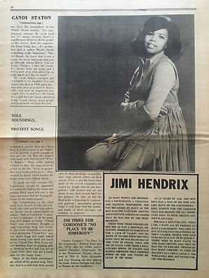 jimi hendrix newspapers: soul november 8, 1970
